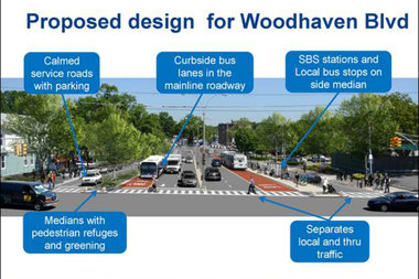 The route will free up lanes for buses that travel on Cross Bay and Woodhaven boulevards.