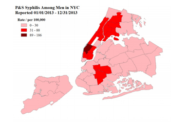 Chelsea has the highest syphilis infection rates in the city.