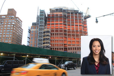 Tram-Thuy Nguyen, 37, died after she was hit with plywood that fell from the construction site at The Greenwich Lane, where St. Vincent's Hospital used to be, on Tuesday, March 17, 2015.