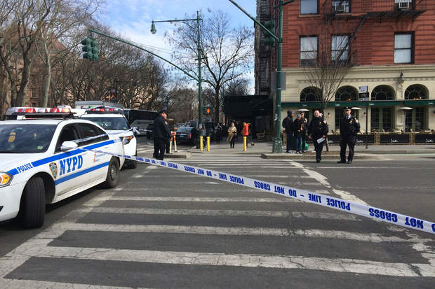 Teen boy walking bicycle in uws crosswalk hit by vehicle for 70 park terrace east new york ny