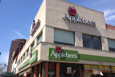 A couple was being mugged on their way to a date at Applebee's when two officers drove by and interfered, police said.