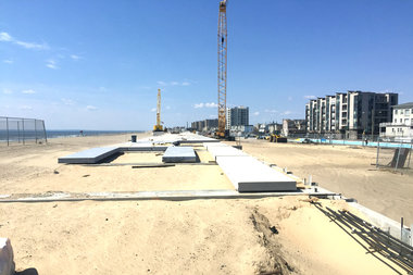 The EDC asked for a total of $67.3 million for dunes, new access points and to pay for concrete planks and to finish the boardwalk on time. The first phase of the project is still under construction and should be ready by Memorial Day.