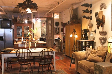 Inside the TriBeCa loft of artist Larry Camp, whose loft was became rent stabilized under the 1982 loft law, when most of the applicants were artists living in large spaces in Lower Manhattan. Under the amended Loft Law in 2010, most of the applicants live in Brooklyn buildings. Unlike the first wave of loft dwellers, the new ones tend to have more roommates to help cover the higher real estate costs.