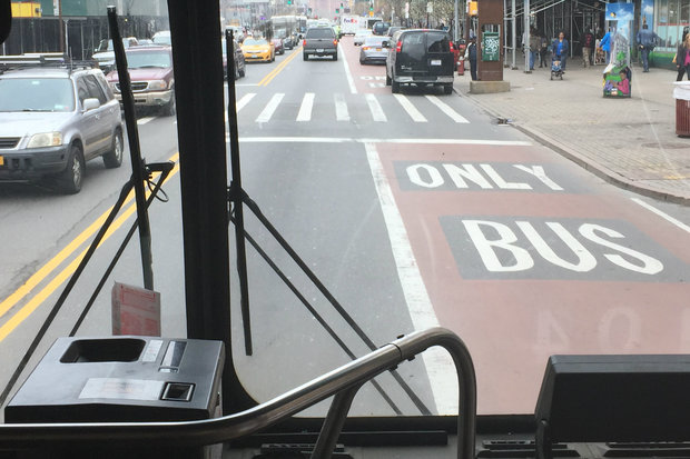 On Monday, the Department of Transportation will start using cameras to enforce bus lane rules along 125th Street. Motorists blocking the lanes during designated hours will be ticketed.