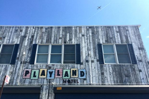 The motel, built in 2013, was seen as an example of a resurgent Rockaway peninsula.