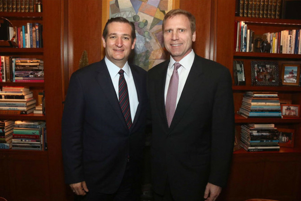 OUT Hotel co-owner Mati Weiderpass, right, with Texas senator Ted Cruz