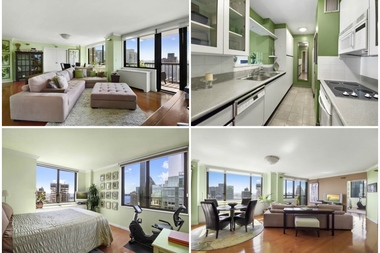 Images of the over-sized living room, kitchen and bedroom of a 2-bedroom co-op at  300 E. 54 St., which is listed for $1.695 million by William Raveis. New Yorkers should expect to see more homes at this price point if the mayor's tax on homes priced above $1.75 million goes through.
