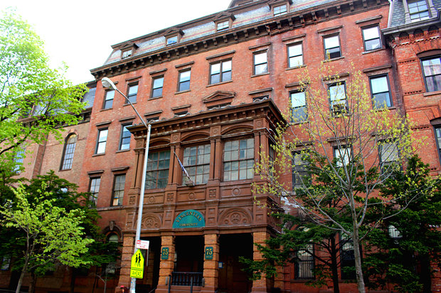 The vacant parish and community center on Lewis Avenue may soon be converted into 120 market-rate apartments.