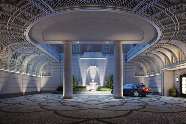 $1 million parking spots, grand motor courts and other high-end car amenities at new Manhattan condos.