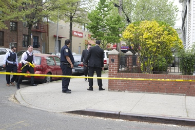 A man was shot on Roosevelt Avenue near Whitney Street, police said.