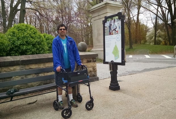 Marathoner Michael Ring can't run anymore, so he's devoting his time to banning cars from Prospect Park.