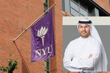 Khaldoon Al-Mubarak, CEO of one of the construction companies involved in New York University's Abu Dhabi campus, also sits on the NYU Board of Trustees.