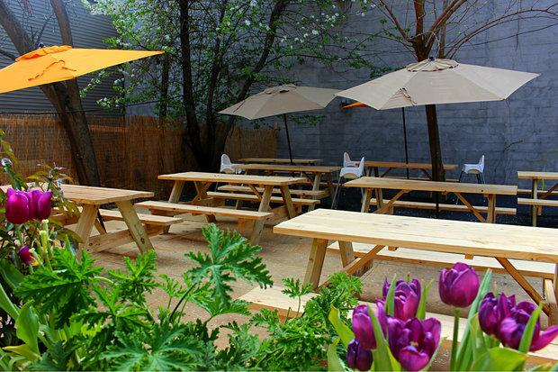 Bed-Stuy's Khemistry Bar Opens Backyard Beer Garden