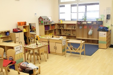 A pre-K classroom at the Nagle Avenue Y in Upper Manhattan.