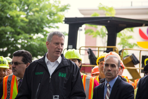 The mayor allocated $242 million in his budget to repave crumbling streets across the city.