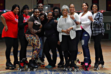 Fitness instructor Tanya Dean teaches Skaterobics, a roller-dance workout, in Bed-Stuy.