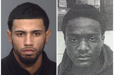 From left: Travis Bloch, 25, and Jeremiah Thomas, 16, are suspects in the shooting death of Christopher Duran, 14, police said.