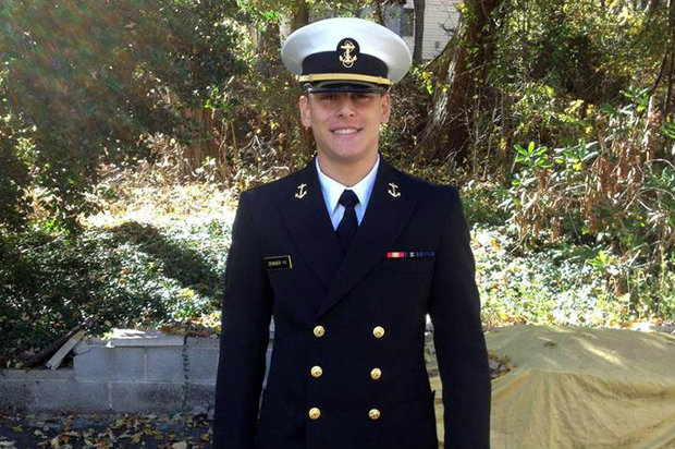 Justin Zemser, 20, was returning home after finishing his second year at the Naval Academy.
