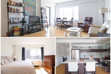 This 1,131-square-foot two-bedroom, two-bath condo at 353 E. 104th St. in East Harlem is listed by Compass for $899,000. Prices in Upper Manhattan, which have historically been lower than the rest of the island, hit record highs in the second quarter of 2015, as prices across the board have jumped.