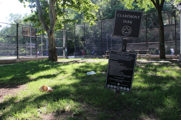 Claremont and Franz Sigel Parks have been the most common parks in the South Bronx for people to get a public drinking ticket over the past two years.