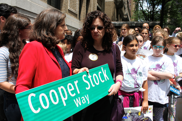 Hundreds of residents and friends of Cooper's came out to dedicate his street renaming.