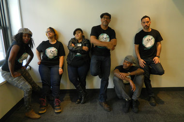 Members of the CUNY Creative Arts Team are working with youth on probation as part of the NeON Arts program, which helps connect individuals to their community.