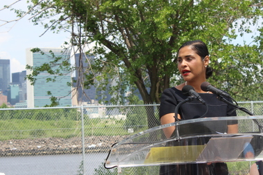 Deputy Brooklyn Borough President Diana Reyna said at a Greenpoint Landings groundbreaking that the city is