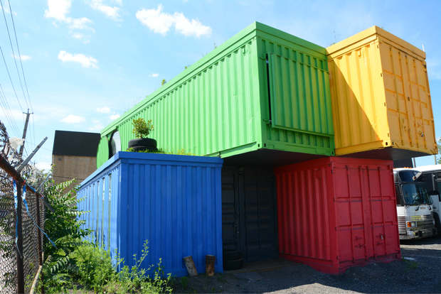 ThisLexik, a new Red Hook art studio that's located in five refurbished shipping containers.