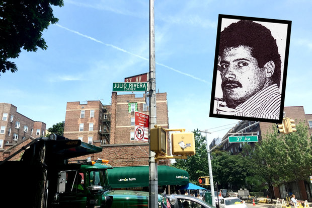 Julio Rivera was killed by a group of skinheads at the corner of 78th Street and 37th Avenue.