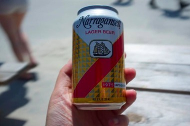 Narragansett beer sales are up, partly due to popularity among price-sensitive drinkers in hip Brooklyn, according to a new report from Bloomberg.