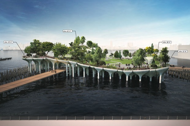 New renderings for Pier55 show a more detailed vision of the park, with plantings, pavings and seating.