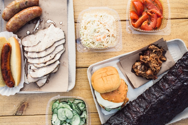 The temporary barbecue restaurant will be open until Oct. 31, 2015.