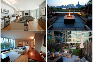 Images from the  View at East Coast, 46-30 Center Boulevard, Apt. 208, in Long Island City. This two-bedroom, with nearly 2,000 square feet of interior space and 1,165 private outdoor space, is listed by Douglas Elliman for $2.5 million.