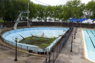 The Parks Department plans to turn the old diving pool into a public plaza.