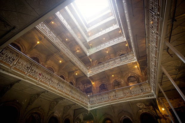 The soaring atrium of The Beekman is a centerpiece of the landmarked hotel.