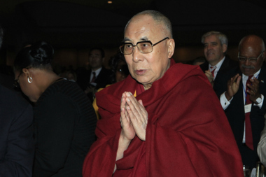 The Dalai Lama attended the National Prayer Breakfast in February.