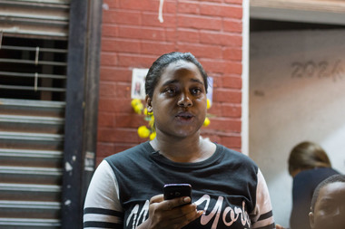 Darren Flowers, 31, was arrested Thursday for attacking Eric Garner's daughter (pictured), prosecutors said.