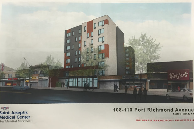 Saint Joseph's Medical Center plan to put a supportive housing facility at 108-110 Port Richmond Ave.