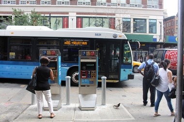 Commuters who want to hop on the M86 Select Service Bus at Second Avenue have not been able to.