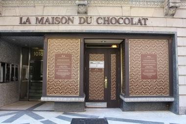 la maison du chocolat opens pop up next to flagship during renovation upper east side. Black Bedroom Furniture Sets. Home Design Ideas