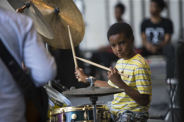 Roney has been playing the drums since he was a toddler.