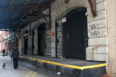 For decades, Koppers' factory was hidding behind these non-descript loading docks at 39 Clarkson St.