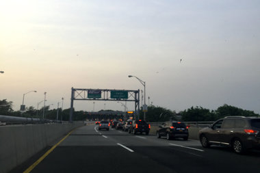 Rockaway traffic backs up over the Marine Parkway and Cross Bay bridges.