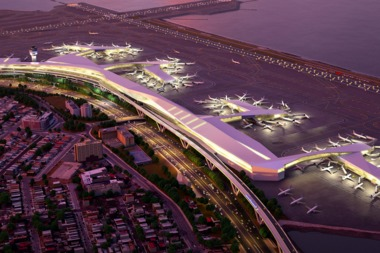 A rendering of the new proposed LaGuardia Airport.
