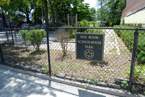 One Room Schoolhouse Park on Astoria Boulevard will get upgraded seating and garden space.