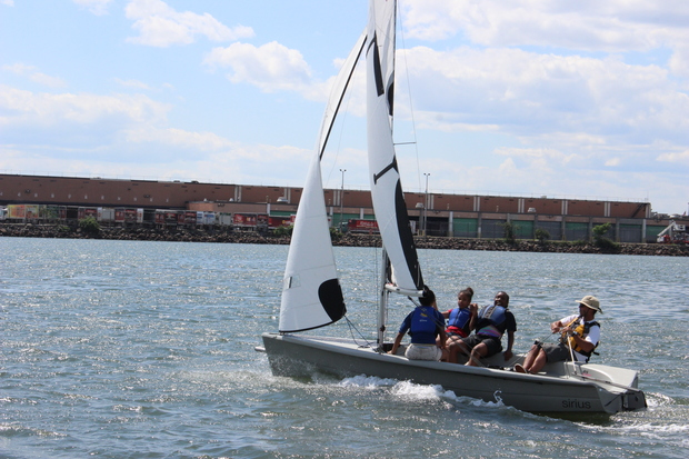 Rocking the Boat launched a Sailing Apprentices program this summer, wherein local high school students from The Bronx help teach local middle school students how to sail.