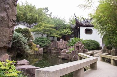 The Chinese Scholar's Garden inside Snug Harbor Cultural Center.