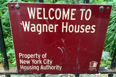 A man was stabbed after getting into an argument with his girlfriend at the Wagner Houses, police said.