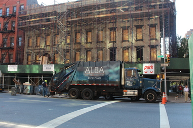 The buildings at 1538-46 Second Ave., or 301 E. 80th St., have been demolished to make room for the tower.