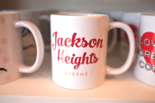 This exclusive Jackson Heights mug is sold at Lockwood's location on 37th Avenue.